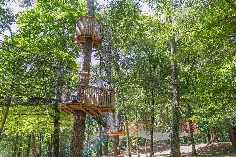 Moulin Neuf Aventure parcours dans les arbres ©Patrice GOUPIL - Morbihan Tourisme (1)